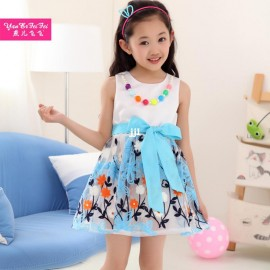 2014 female child summer children's clothing child fashion organza daisy embroidery one-piece dress princess dress Dresses Cheap Dresses China Dresses Suppliers