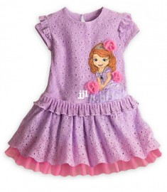 New 2014 Sofia summer girls dress/Cartoon Sofia the First children's clothing/Adorable princess lace dress Dresses Cheap Dresses New 2014 Sofia summer gir