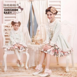 2014 spring family fashion 100% cotton lining and lace ruffles vintage royal style one-piece dress Fresh Garden wind 1322# Dresses Cheap Dresses China Dresses Suppliers