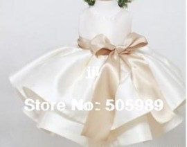 Cheap dresses for baby girls, Buy Quality dress clothes for babies directly from China gown ball dress Suppliers: size: 90/100/110/120/130(for 2-6Yrs girl ) color:champagne/white mater