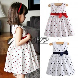 2014 new hot-selling children clothing high quality 100% cotton girls' dresses for 2T-7T kids wear 2 colors #7 SV001642 Dresses Cheap Dresses 2014 new hot selling chil
