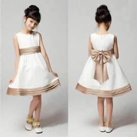 Therewith 2014 white formal performance khaki dress formal dress flower children's clothing formal dress Dresses Cheap Dresses China Dresses Suppliers