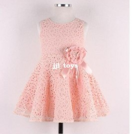 2014 Summer New baby girls dress bow princess dress Children lace dress kids noble fairy dress for party high quality clothing Dresses Cheap Dresses 2014 Summer New baby girl
