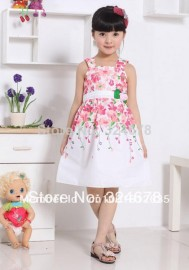 girls' dresses new fashion 2014 summer baby dress baby girl clothes kids flowers cotton dress girls clothes retail bk0521 clothes band clothes for obese childre clothes combination