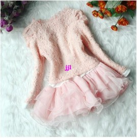 2014 Beautiful Girls Dresses Tutu pink white coat baby kid flower party princess dress Children sping clothing set child clothesfree shippin Dresses Cheap Dresses China Dresses Suppliers
