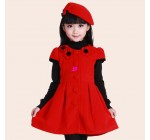 1pcs=dress+hat 2014 autumn and winter Childrens clothing one-piece dre …