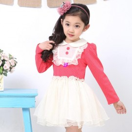 New arrive!Free shipping!2014 spring childrens clothing long-sleeve dress tulle gentle princess little girl dressfree shipping Dresses Cheap Dresses China Dresses Suppliers