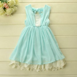 free shipping 2014 new sleeveless dress brief girl lace chiffon dress summer kids clothes 3color 5pcs/lotfree shipping Dresses Cheap Dresses free shipping 2014 new sl