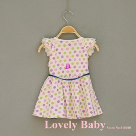 Free shipping, 2014 New Summer, Girls dress, Princess Children Dress, children/kids clothes, Dot, Wholesale, 0821free shipping Dresses Cheap Dresses Free shipping