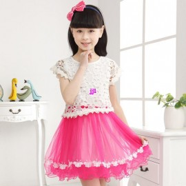 Retail 2014 new Summer childrens clothing girls casual princess dresses kids cotton thin chiffon short-sleeve lace dressfree shipping Dresses Cheap Dresses Retail 2014 new Summer ch