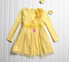 New Arrival Product 2014 Girl Dresses Princess Autumn -summer Kids Clothes Long Sleeve Girl Dress Costumes For Kidsfree shipping dress sleeveless costume wedding dress dress up costumes for kid