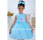 2014 childrens clothing female child one-piece dress princess dress fl …