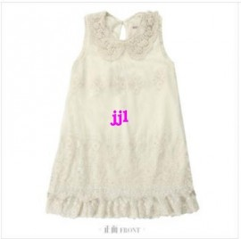 2014 New Arrival Children Clothes Girls White Lace Dress Girls Fashion Sleeveless Summer Dress 325free shipping Dresses Cheap Dresses 2014 New Arrival Children