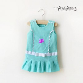 2014 NEW ARRIVE SUMMER BABY GIRL KIDS CHILDREN DRESS VEST CLOTHING SIZE:12MONTH-5Tfree shipping Dresses Cheap Dresses 2014 NEW ARRIVE SUMMER BA