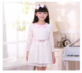 Free shipping 2014 spring and autumn children dress Brand girls clothing girls long-sleeved lace dress girl dressfree shipping Dresses Cheap Dresses Free shipping 2014 spring