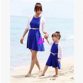 Summer Dress 2014 Family Fashion Beach Dress Sleeveless Clothes for Mother and Daughter One-piece Dressfree shipping Dresses Cheap Dresses China Dresses Suppliers