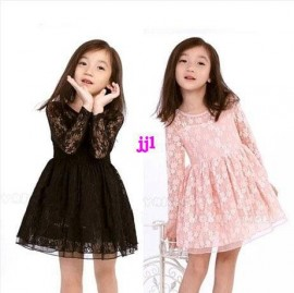 Spring 2014 Childrens clothing one-piece dress female child long-sleeve dress child spring lace princess dressfree shipping Dresses Cheap Dresses Spring 2014 Children cl