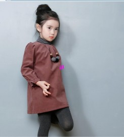 Retail 2014 New Spring/Autumn children clothing, girls korean vision corduroy dress.2-7Y child basic long design t-shirt, highfree shipping Dresses Cheap Dresses Retail 2014 New Spring Au