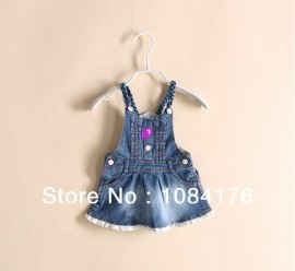 Free shipping 2014 new spring autumn children clothing overall kids dress for girl denim dress baby casual suspender dressfree shipping Dresses Cheap Dresses Free shipping 2014 new sp