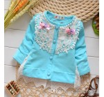 2014 Baby clothes Girls Dresses Children Girl Lace Dress Floral Long S…