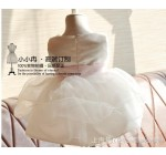 New girls elegant wedding dress 2014 korean rose flower pearl princess …