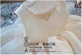 New girls elegant wedding dress 2014 korean sequins collar princess party dress chiffon formal dresses birthday girls clothing 0-9Y wedding dress party dress formal dresses