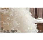 New girls vest wedding dress 2014 korean princess dress white chiffon  …