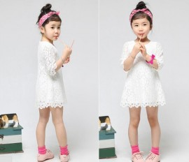 2014 Summer Childrens Clothes Children dress Girls dress lace princess sleeve lace dress, Free Shipping Dresses Cheap Dresses 2014 Summer Childrens Cl