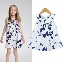 2014 Childrens Clothing summer Next Retail high-quality 100% cotton girls dress princess Butterfly Dress Free Shipping Dresses Cheap Dresses 2014 Childrens Clothing
