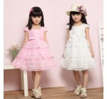 2013 children girl princess dress pink white birthday party lace Cake  …