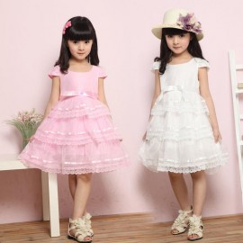 2013 children girl princess dress pink white birthday party lace Cake layered dresses size 120-160 Dresses Cheap Dresses 2013 children girl prince