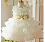 New 2014 Flower Girl Christening Wedding Party Pageant Dress Baby Firs …