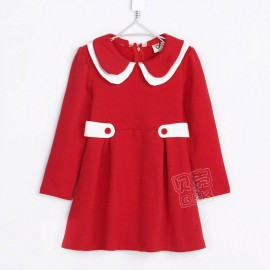 2014 Autumn Korean version of the new double collar female models long-sleeved dress children clothing baby son qz-1003 frozen 2014 baby boy clothes boys
