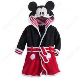 Retail Mickey Bath Robe for baby 3D Ears with Hooded Boys/Girl Towelling Robe Plush Warm Robe Girl Print Dress Fit 0-24 Month Dresses Cheap Dresses Retail Mickey Bath Robe f