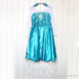 Baby Girl Frozen Elsa Summer Gauze Cloak Princess Dress Kids Sheer Cape Costumes Kids Blue Dance Dresses Cosplay Party Dresses Princess Dress Dance Dresses Frozen Dresses