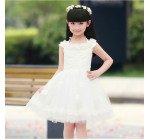 2014 Summer hot sale Child Children Dress Baby Girls Clothes Frozen Gi …