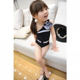 2014 Kids exclusive custom version of three-dimensional flowers small fragrant wind oblique swimwear children swimsuit manufacturers, wholes Tong skirt Kids Tong skirt