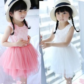 Yarn Girls dot dress veil princess Tong Tong Korean version of a consignment summer children dress skirt Agent Tong skirt Kids Tong skirt