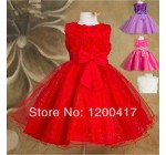 1 piece only-high quality 2014 new Girls dress for baby children Purpl …