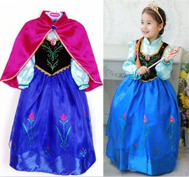 Free shipping! Summer dress 2014 Frozen Elsa Anna costume princess dress sequined cartoon costume Free shipping girls dresses. Cosplay Holloween dress Plus size girl dress USA size baby clothing