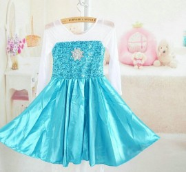 Hotl!2014 New Frozen Dress Elsa & Anna Summer Dress For Girl Hot Sale Princess Dresses Vestidos De Menina Children Clothing dresses design for kids Anna Summer Dress Hot Sale Princess Dresses