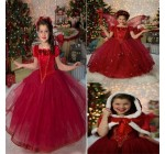 1PCS 2014 Hot Christmas Girls Frozen Dress Elsa Anna beautiful Dress F …