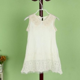 2014 New fashion children clothing summer aesthetic lace beads baby girl vest dress free shipping UD0011 dresses for baby girls aesthetic lace dress dress wholesale free ship