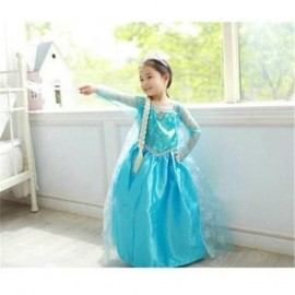 Retail New 2014 summer Children girls party clothes, Frozen Elsa Lovely dress, fashion child kids cosplay dress , Baby Clothing clothes competitions clothes clothing clothes