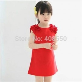 Free Shipping Hot Sale 2014 Summer New Children Clothing Baby Girls Clothes Girl Dress Kids Dress Dropshipping dropship scooter dropship clothes dress angle