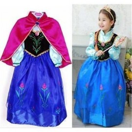 new 2014 Frozen dress Anna dress, girls dresses+red cloak summer clothing childrens clothes cartoon dress AQZ056 clothes offers clothes children clothes mexico