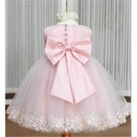 retail Pink girl dresses girls party High-grade Princess dresses chiffon Big bowknot dresse childrens clothing dress Dresses Cheap Dresses dresses girls party