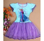 1PCS Frozen Dress Elsa & Anna Summer Dress For Girl 2014 New Hot Princ …