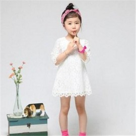 Hot sale! 2014 New Fashion Korean Children Clothing Beautiful White Girls Lace Dress Princess Mini Dresses Kid Baby Clothes dress german dresses halloween clothes necessary
