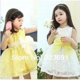 Retail girl birthday dress 2014 children dress Princess dress Big bowknot dress for summer birthday princess dress dresses for short girls dresses for baby girls